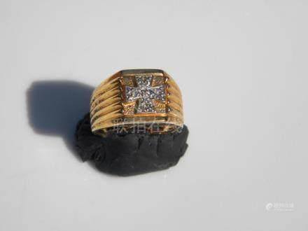 Vintage Gold Gilted Men's Ring