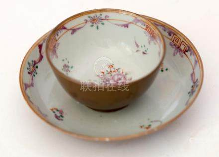 Batavia brown Cup and saucer