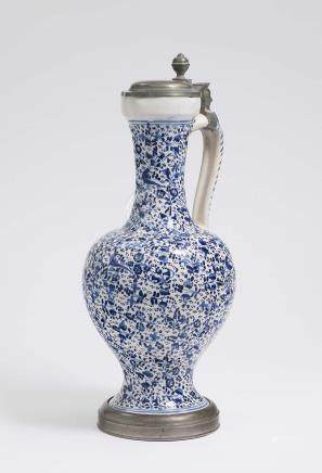 A JUG WITH LONG NECK Ansbach, 18th century