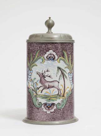 A BEER STEIN Ansbach, end of the 18th century