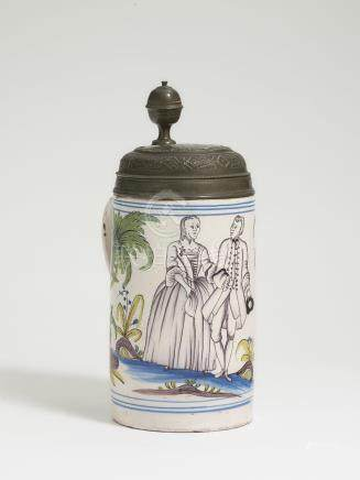 A TANKARD Dorotheenthal, 2nd half of the 18th century