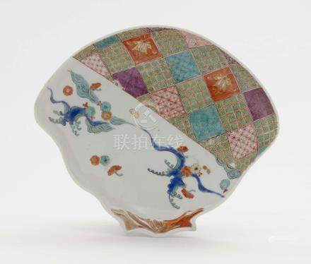 A SHELL-SHAPED BOWL Meissen, 2nd quarter of the 18th century