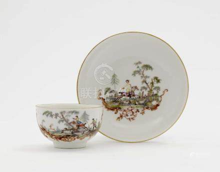 A CUP AND SAUCER Meissen, 3rd quarter of the 18th century
