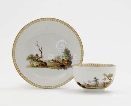 A CUP AND SAUCER Meissen, Marcolini
