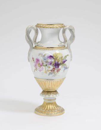 A VASE WITH SNAKE HANDLES Meissen