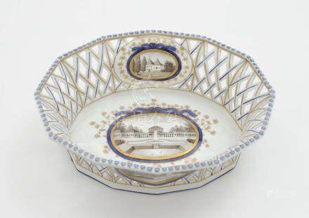 AN OVAL BASKET BOWL Nymphenburg, after the model by Dominiku