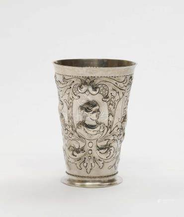 A TALL DRINKING GLASS Gdansk, 2nd half of the 18th century,
