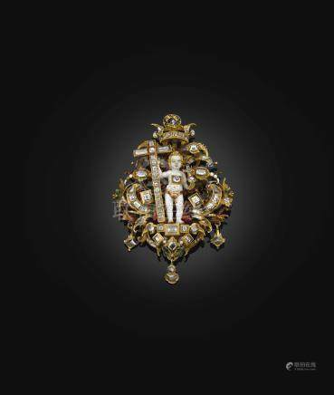 PENDANT JEWEL WITH THE CHRIST CHILD IN MAJESTY