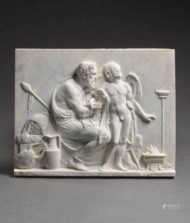 RELIEF WITH CUPID RECEIVED BY ANACREON