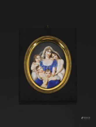 An ivory miniature, Giovanni Battista Gigola, signed: Gigola, circa 1812/13