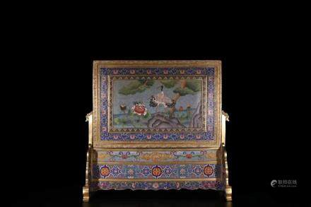A Gilt Bronze Screen