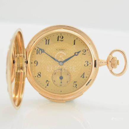 A. MARX & CO 14k pink gold hunting cased pocket watch