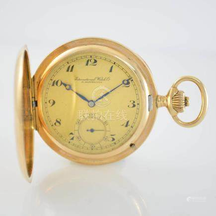 IWC 14k yellow gold hunting cased pocket watch calibre