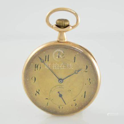 LONGINES 14k yellow gold open face pocket watch