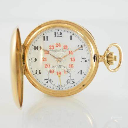 IWC 14k pink gold hunting cased pocket watch calibre 53