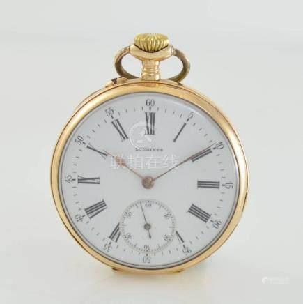 LONGINES open face 14k pink gold pocket watch
