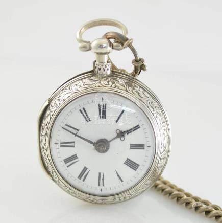 DANIEL ALLEN London verge watch in sterling-silver