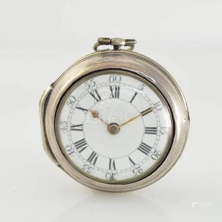 JOHN PLUMMER London verge watch in sterling-silver