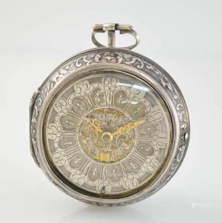 MERCIER London early repoussé verge pocket watch