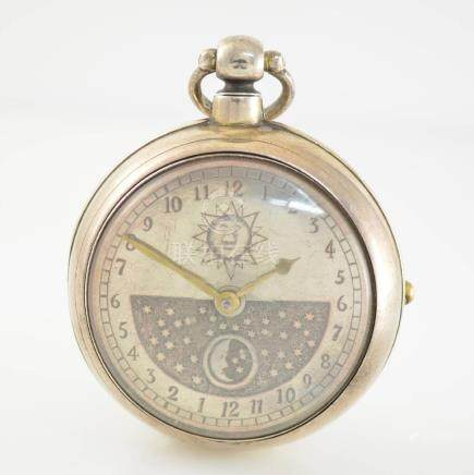 JAMES BARDEN verge watch in sterling-silver