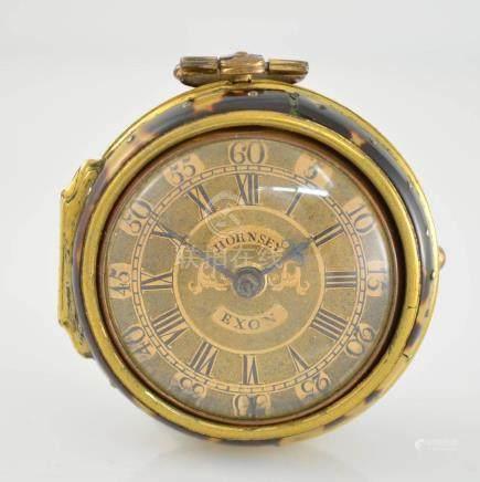 WILLIAM HORNSEY Exon gilt verge pocket watch