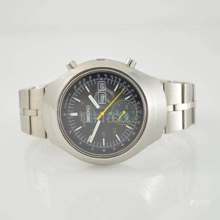 SEIKO gents wristwatch 'Black Helmet' with chronograph