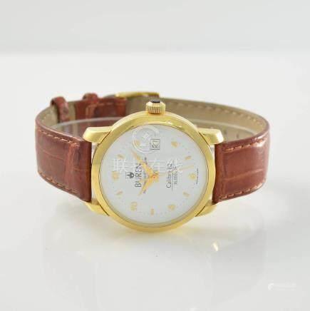 BUREN Calibre 82 rare 18k yellow gold wristwatch