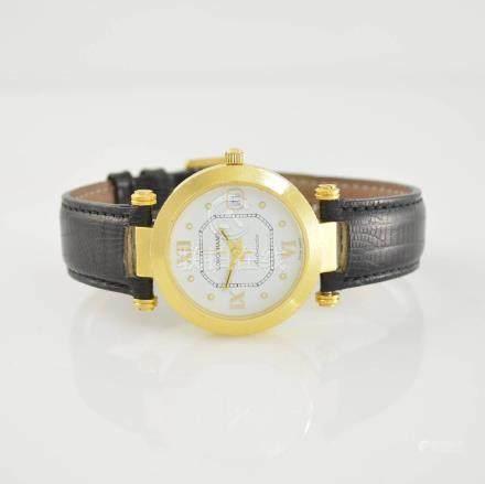 LONGCHAMP self windnig 14k yellow gold wristwatch