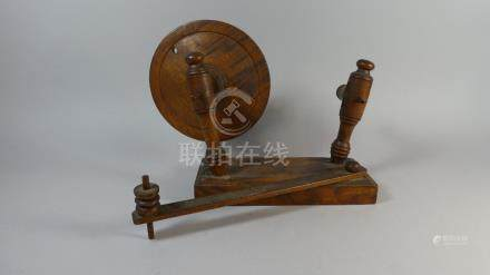 A 19th Century Treen Wool Winder with Hinged Side Bar