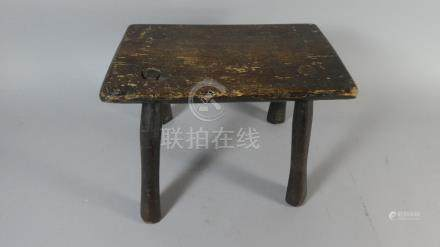 A 19th Century Four Legged Country Made Stool,
