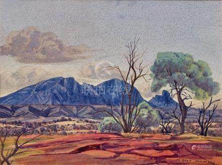 ALBERT NAMATJIRA 1902-1959 (MacDonnell Ranges) pencil and wa