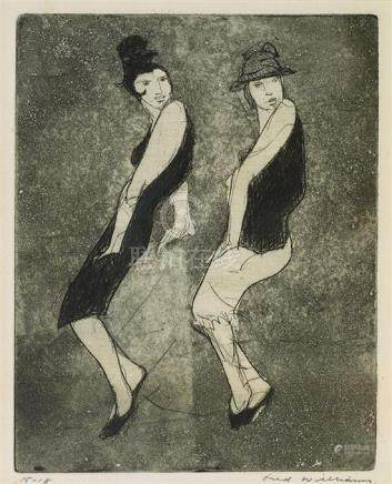 FRED WILLIAMS 1927-1982 The Boy Friend (1955-1956) etching,