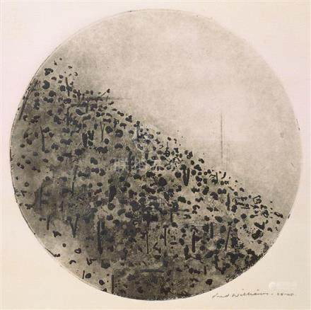 FRED WILLIAMS 1927-1982 Circle Landscape, Upwey (1965-1966) etching, flat biting, engraving, drypoint and mezzotint on paper 28 x 28…