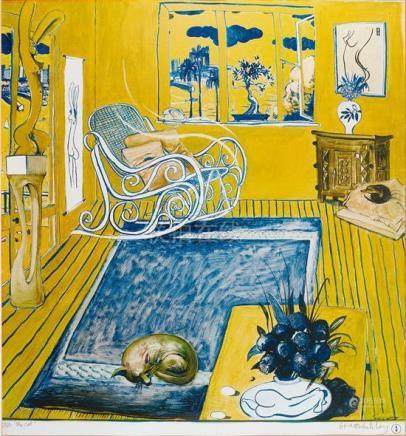BRETT WHITELEY 1939-1992 The Cat (1980) offset lithograph on