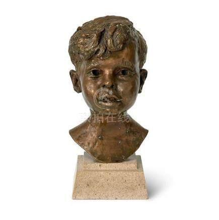 § JACOB EPSTEIN 1880-1959 Robert Rhodes (1951) bronze 32 x 1
