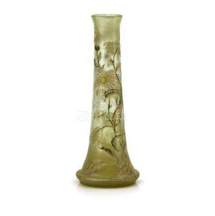 An Emile Gallé cameo glass vase, French, circa 1900 47 cm hi