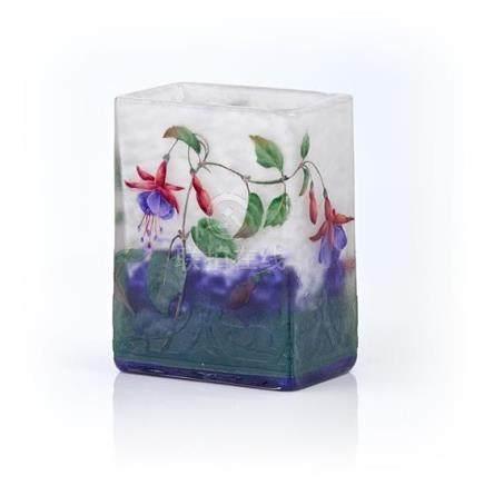 A Daum Nancy 'Fuchsia' cameo glass vase, French, circa 1900