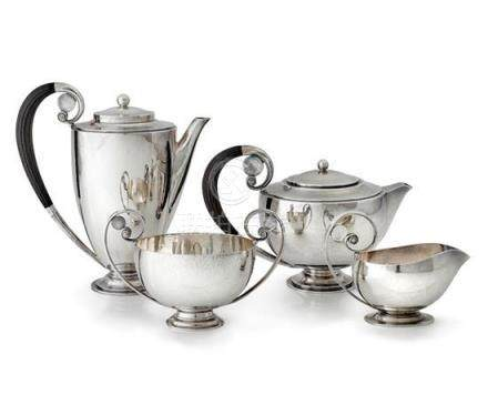 A sterling silver four piece tea and coffee service, No. 261