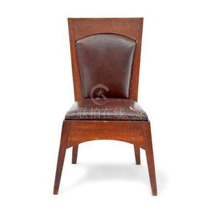An oak side chair, designed by Walter Burley Griffin for New