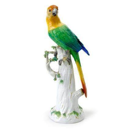 A Meissen porcelain model of a parrot, after the original de