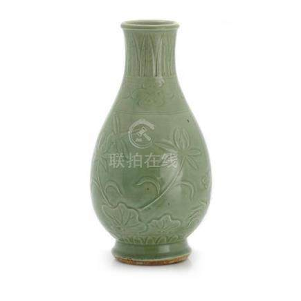 A Ming-style celadon vase 40 cm high