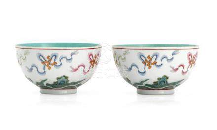 A pair of famille rose bowls, 19th /early 20th century (2) 1