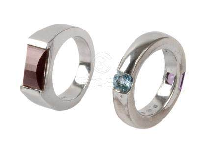 Montblanc. Two silver rings