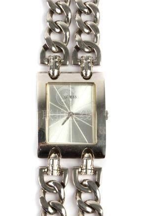 Guess. G75916L steel wristwatch