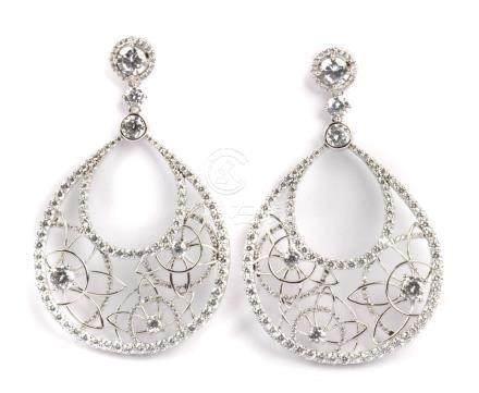 Cubic zirconia silver earrings
