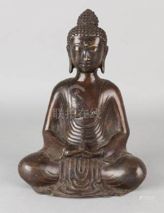 Old / antique Oriental / Chinese bronze buddha. Size: H