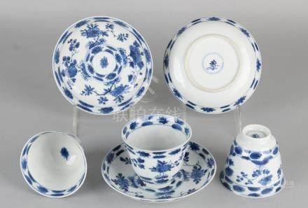 Three times 18th century Chinese porcelain Kang Xi cup