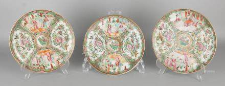 Three 18th century Chinese porcelain Family Rose