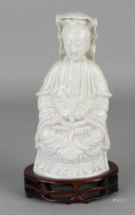Old / antique Chinese porcelain Blanc de Chine sitting