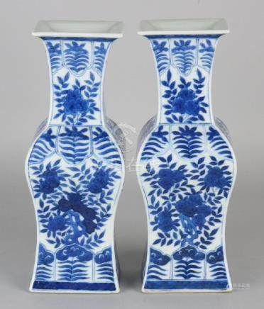 Two 19th century baluster-shaped square Chinese